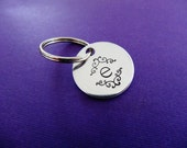 Personalized Initial Keychain - Initials - Hand stamped Key chain Accessory
