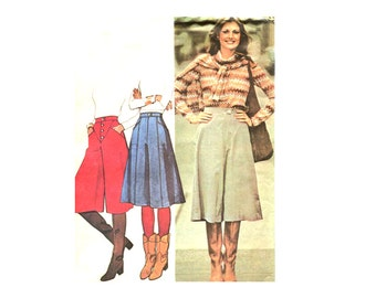 70s Misses Set of Culottes / Gauchos - Inset Pockets - Three Styles - Vintage Sewing Pattern McCalls 5291 - Size 8 Uncut