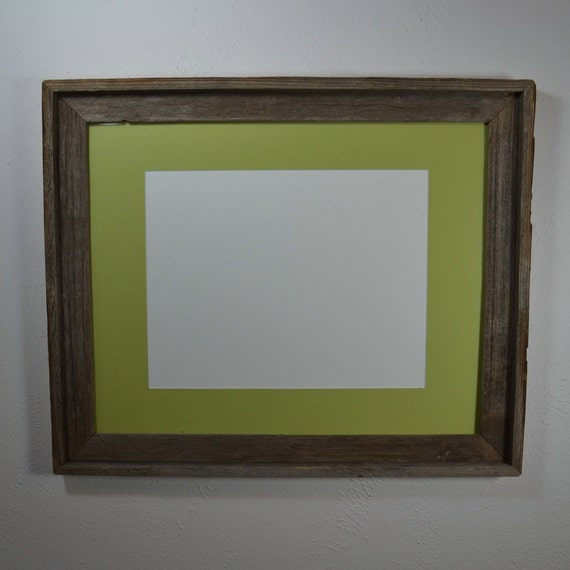 16 X 20 Natural Gray Frame With Light Green Mat And By