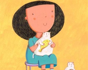 little family  Original Illustration