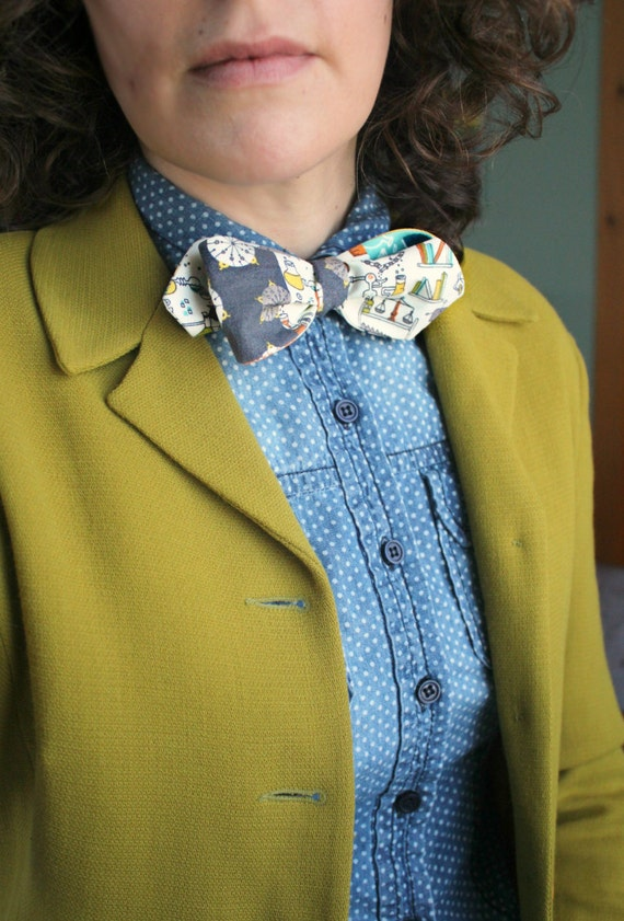 space science bow tie back to the future organic by