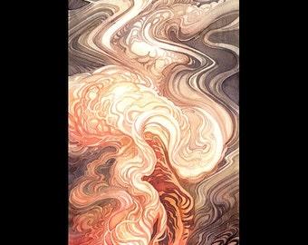 Pokemon Arcanine Growlithe Volcano Caldera Spirit 8x24 Poster