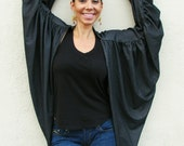 Boho Wrap, Sweater, Swimsuit Coverup, Jacket, Bohemian Clothing, Boho Chic, Black, Denim, Animal Print, Angel Cape, Wings