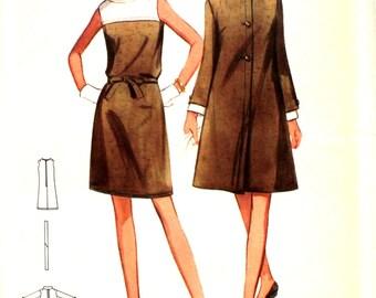 UNCUT 1960's Coat and Dress Bust 38 Butterick 4741