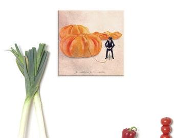 photography canvas, canvas print, Canvas Gallery Wrap, Food photography, Autumn photography, Kitchen art, Halloween, Pumpkin, Orange decor