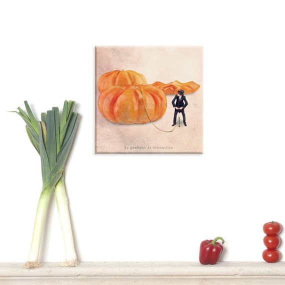 photography canvas, canvas print, Canvas Gallery Wrap, Food photography, Autumn photography, Kitchen art, Halloween, Pumpkin, Orange decor