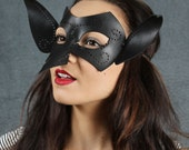 SALE! Hobgoblin leather mask in black