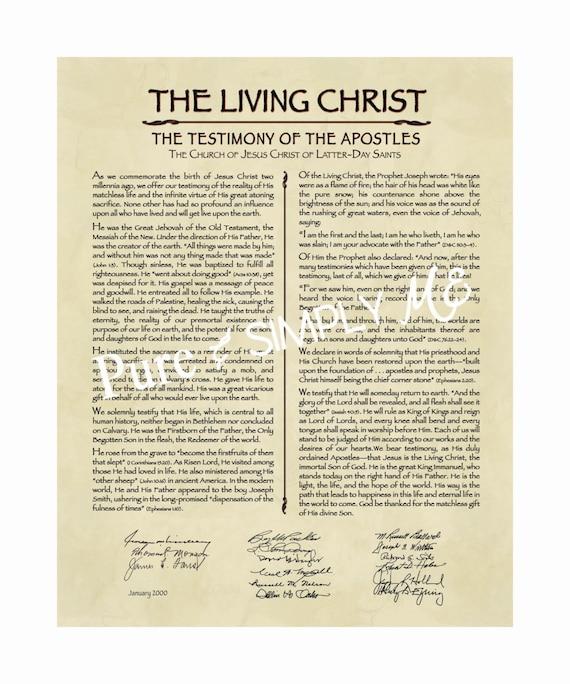 Enterprising image in the living christ printable