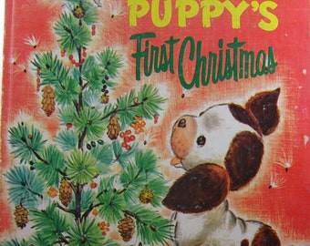 The Poky Little Puppy's First Christmas, vintage children's book