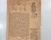 1920s Vintage Kids Sewing Pattern Mail Order 7976 Girls Dress Size 3 Breast 22 20s