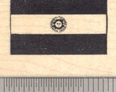 Flag of Argentina Rubber Stamp, Argentine Republic, South America D24313 Wood Mounted