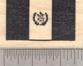 Flag of Guatemala Rubber Stamp, República de Guatemala, Central America D24316 Wood Mounted