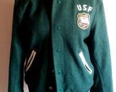 University of San Francisco Green Varsity Jacket