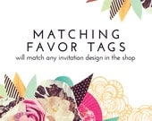 Matching FAVOR TAGS Customized for Any Invitation in the Shop - DIY - Digital Item
