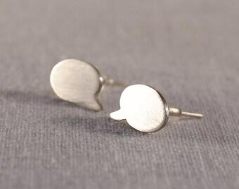 Speech bubble stud earrings