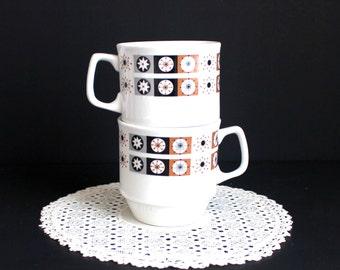 Set of 1950's Coffee Mugs Mid Century Modern