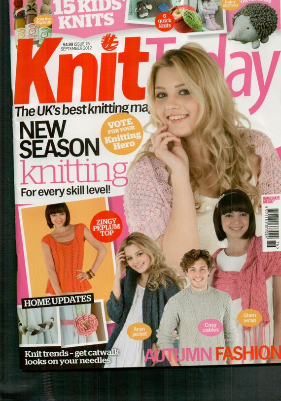 Knit Today Knitting Magazine Issue 76 September 2012