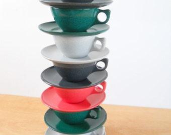 Vintage Branchell Melmac • Vintage Color Flyte K LaMoyne • Cups and Saucers