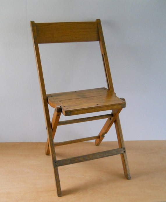 Vintage Wooden Folding Chair Mid Century Chair Furniture