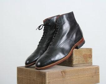 SALE- 1910s Hi-Top Oxford Shoes . NOS Edwardian Footwear