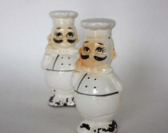 Vintage Chef Salt and Pepper Shaker Set