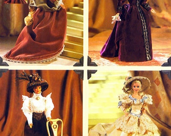 "11 1/2"" Fashion Doll Sewing Pattern Historical Gowns Vogue 9759 622 Shipping to USA INCLUDED"