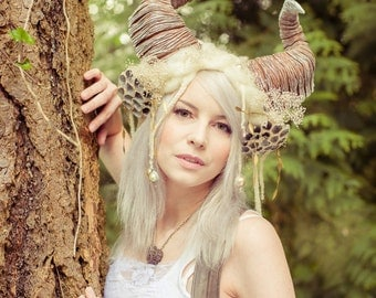 Ethereal Ram Horn Headdress