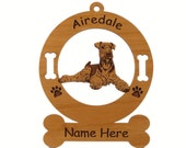 1089 Airedale Down Personalized Ornament