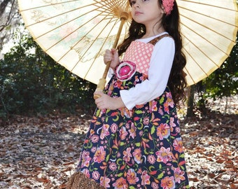 Maxi dress, Girl's Hi-Low Maxi dress, Reverse Knot Dress, Spring dress, leopard, polka dots,Bohemian dress,sizes 12 months through 7/8