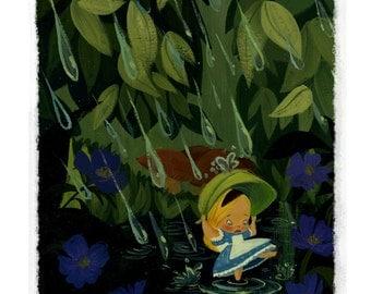 Alice in the Rain - Print