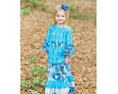 Little Girls Dresses - Maxi Dress - Long Sleeve Dress - Toddler Dress - Girl Toddler Dresses - Maxi Skirt - Peasant Top - sizes 2T to 8 yrs