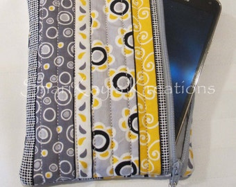 Large 5x7 Fabric Cell Phone Case - iPhone Case - Zippered Case