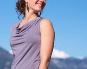SALE - Organic Clothing - Lupine Cowl Tank - Bamboo & Organic cotton Eco-Friendly tank top