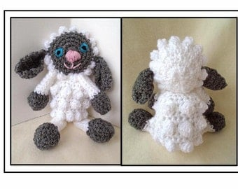crochet PATTERN, Little Lamb Toy, baby's first toy, plush toy, amigurumi, miniatures, #764