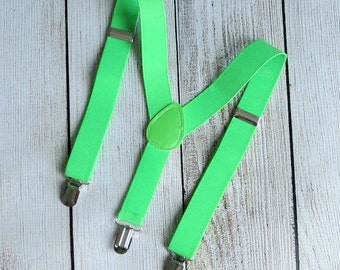 boys suspenders, green suspenders, baby suspenders, wedding suspenders, first birthday suspenders, little man suspenders, photo prop