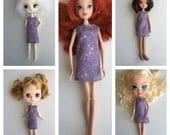 Handmade Pullip Disney Blythe Momoko Skipper Bratz Only Hearts Club Dress
