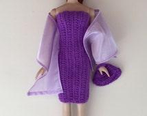 Handmade Ellowyne Wilde Gene Crochet Dress Purse Stole