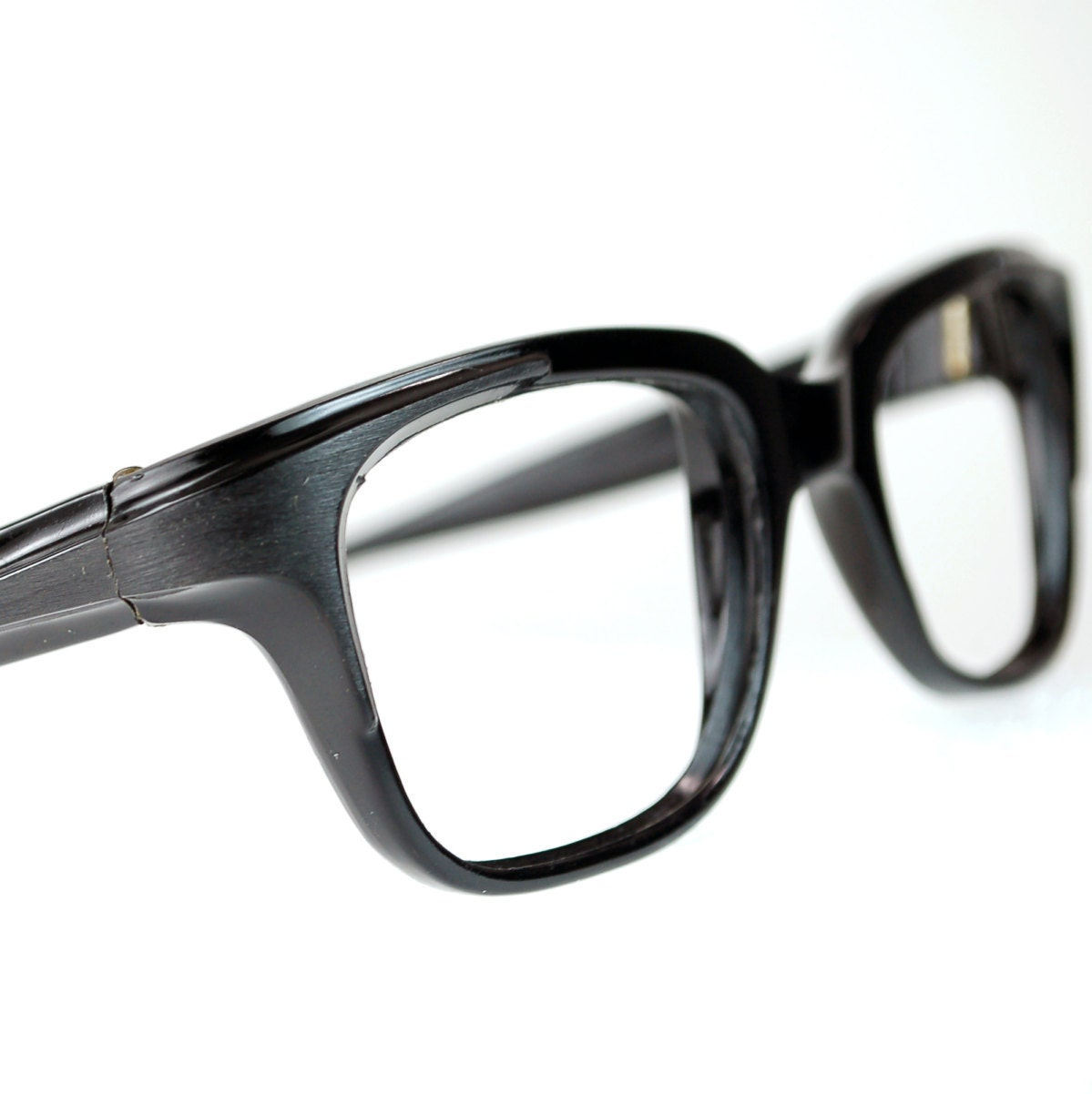 Glasses Frames Thick Black : Black Horn Rim Eyeglasses Frames Mad Men Black Thick Squared