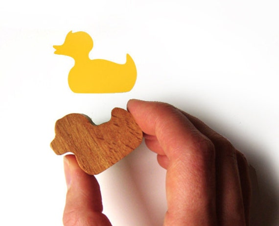 Duck Stamp, Rubber Stamp for Bird Lovers, Card Making and Scrapbooking