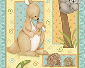 Mommy and Me cotton quilters panel 24 x 44 inches by Shelly Comiskey for Henry Glass and company.