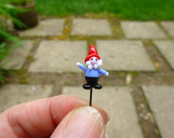 Glass Fairy garden micro miniature accessory, tiny garden gnome, fairy garden supply, fairy garden accessories