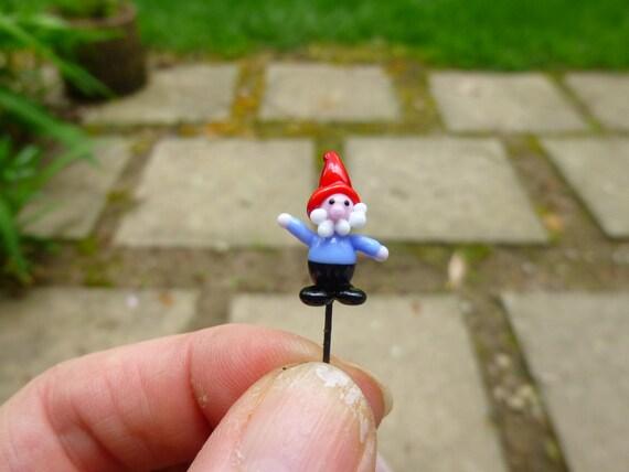 Gnome Garden: Glass Fairy Gnome Micro Miniature DIY Fairy Garden Accessory