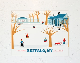 Buffalo, NY Delaware Park Print, Gift for Him or Her, 15 gift