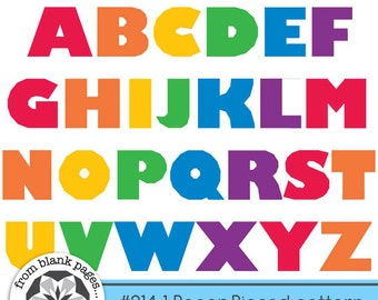 Alphabet Quilt Pattern - My ABC's UPPERCASE #214.1  - Quilt Pattern - Paper Piecing PDF