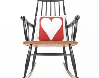 Silhouette , Decorative , Pillow , Heart , Love , Modern