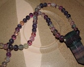 Beautiful Peyote Stitched Fluorite Crystal Necklace