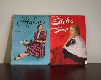 Set of Two Vintage Knitting Magazines