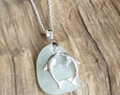 Sea Glass with Dolphins sea glass jewelry