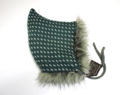 Wolf Cub Hat, made to order, jade green