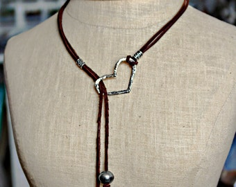 Leather genuine Tahitian pearl leather sterling silver lariat necklace
